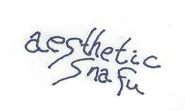 aesthetic snafu handwritten