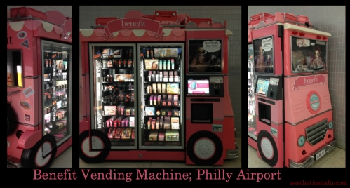 Benefit Vending Machine at Philadelphia airport