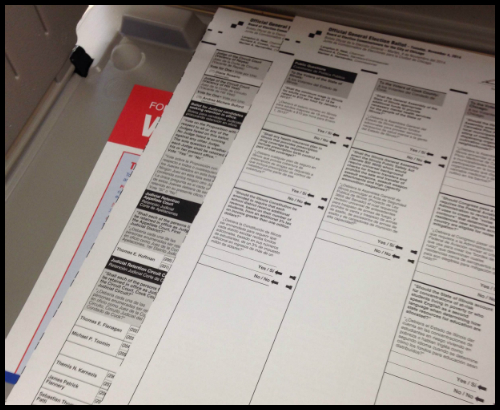 Chicago Voting Ballot 2014