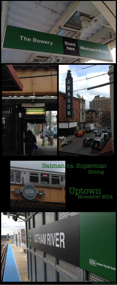 Uptown filming of Batman vs Superman