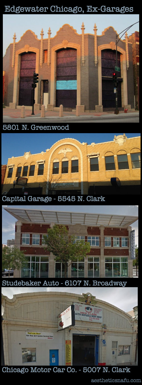 architectural comparisons - auto showrooms and garages