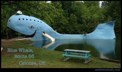 Giant blue whale sculpture in Catoosa Oklahoma on Route 66